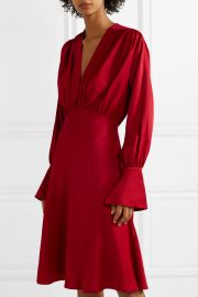 Connie gathered crepe dress at Net A Porter