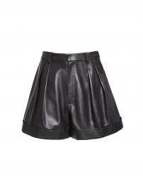 Conry Leather Shorts at Alice + Olivia
