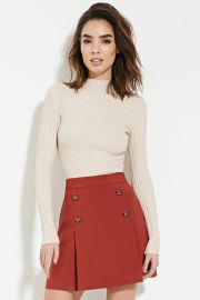 Contemporary Buttoned Skirt  LOVE21 - 2000153079 at Forever 21