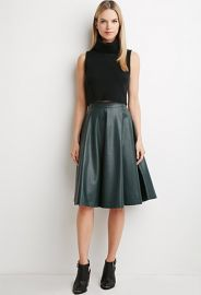 Contemporary Faux Leather A-Line Skirt  LOVE21 - 2000155654 at Forever 21