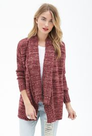 Contemporary Marled Shawl Collar Cardigan  LOVE21 - 2000121117 at Forever 21