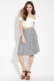 Contemporary Striped Skirt  LOVE21 - 2000173947 at Forever 21