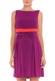 Contrast Banding Maternity Dress by Olian at Amazon