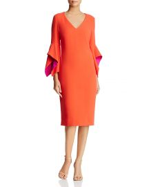 Contrast Bell Sleeve Dress by Badgley Mischka at Bloomingdales