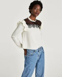 Contrast Blouse by Zara at Zara