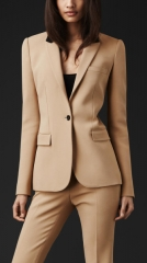 Contrast Collar Blazer at Burberry