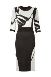 Contrast Intarsia Dress by Raoul at Rent The Runway