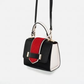 Contrast Mini City Bag at Zara