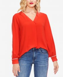 Contrast Piping Blouse at Macys