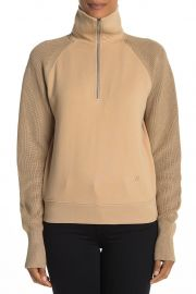 Contrast Sleeve Quarter Zip Sweatshirt by Helmut Lang at Nordstrom Rack