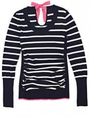 Contrast Tie Back Sweater at Delias