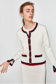Contrast Trim Cardigan by Zara at Zara