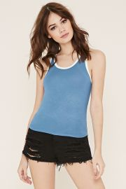 Contrast-Trimmed Tank   Forever 21 - 2000153365 at Forever 21