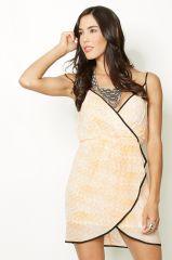 Contrast Wrap Dress at Glamistree