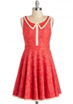 Contrast collar dress like Magnolias at Modcloth