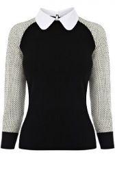 Contrast collar sweater at Karen Millen