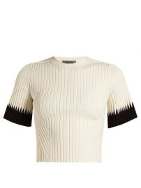 Contrast-cuff ribbed cropped top by Alexander McQueen at Matches
