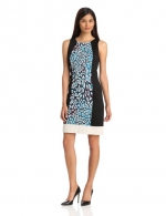 Contrast panel dress by DKNY at Amazon