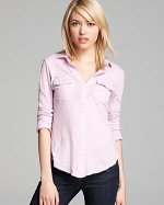 Contrast panel shirt by James Perse at Bloomingdales