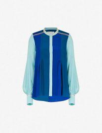 Contrast-panel silk shirt at Selfridges