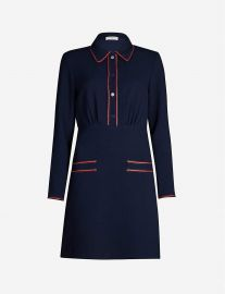 Contrast-piping crepe mini dress at Selfridges