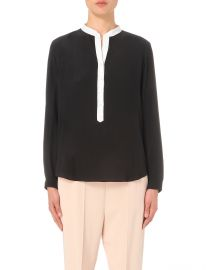 Contrast-placket silk shirt at Selfridges
