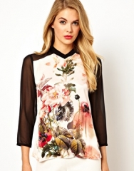 Contrast sleeve blouse by Ted Baker at Asos
