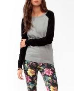 Contrast sleeve sweater by Forever 21 at Forever 21