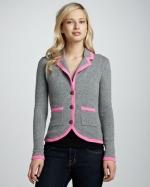 Contrast trim jacket by Autumn Cashmere at Neiman Marcus