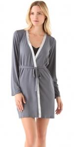 Contrast trim robe by Calvin Klein at Shopbop
