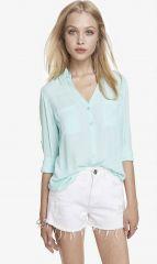 Convertible Portofino Shirt at Express