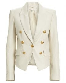 Cooke Leather Dickey Blazer by Veronica Beard at Intermix