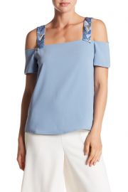 Cooper  amp  Ella   Sandra Beaded Cold Shoulder Shirt  at Nordstrom Rack