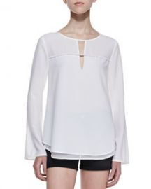 Cooper   Ella Taylor Layered-Hem Tunic Blouse at Neiman Marcus