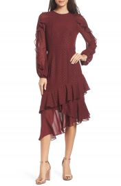 Cooper St Texture Dot  amp  Ruffle Chiffon Dress   Nordstrom at Nordstrom
