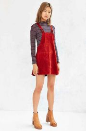 Cooperative Brandy Suede Overall Dress at Urban Outfitters