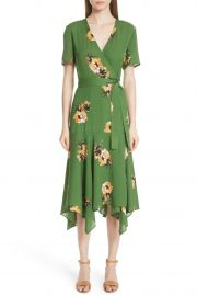 Cora Floral Print Silk Wrap Dress at Nordstrom Rack