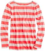 Coral striped tee at JCrew at J. Crew