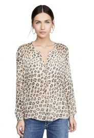 Cordell Smocked Leopard Blouse by Joie at Amazon