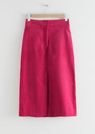 Corduroy Front Split Midi Skirt at & Other Stories