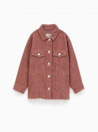 Corduroy Jacket with Frayed Trim by Zara at Zara