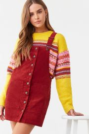 Corduroy Overall Mini Dress at Forever 21