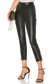 Cori Lace up Faux Leather Pant at Revolve