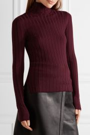 Corina ribbed merino wool-blend turtleneck sweater by Acne Studios at Net A Porter