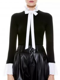 Cornelia Wool & Silk-Blend Tieneck Sweater at Saks Fifth Avenue