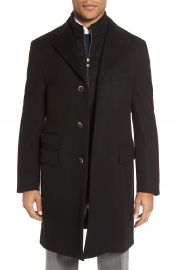 Corneliani Classic Fit Wool Topcoat at Nordstrom