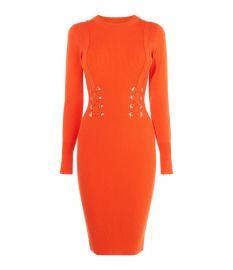 Corset Effect Knit Dress at Karen Millen