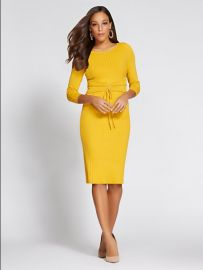 Corset Sweater Dress - Gabrielle Union Collection at NY&C