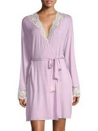 Cosabella - Preta Sleep Lace-Trimmed Robe at Saks Fifth Avenue