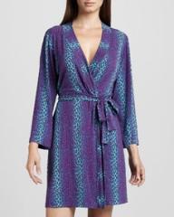 Cosabella Anouck Leopard-Print Robe Plum at Neiman Marcus